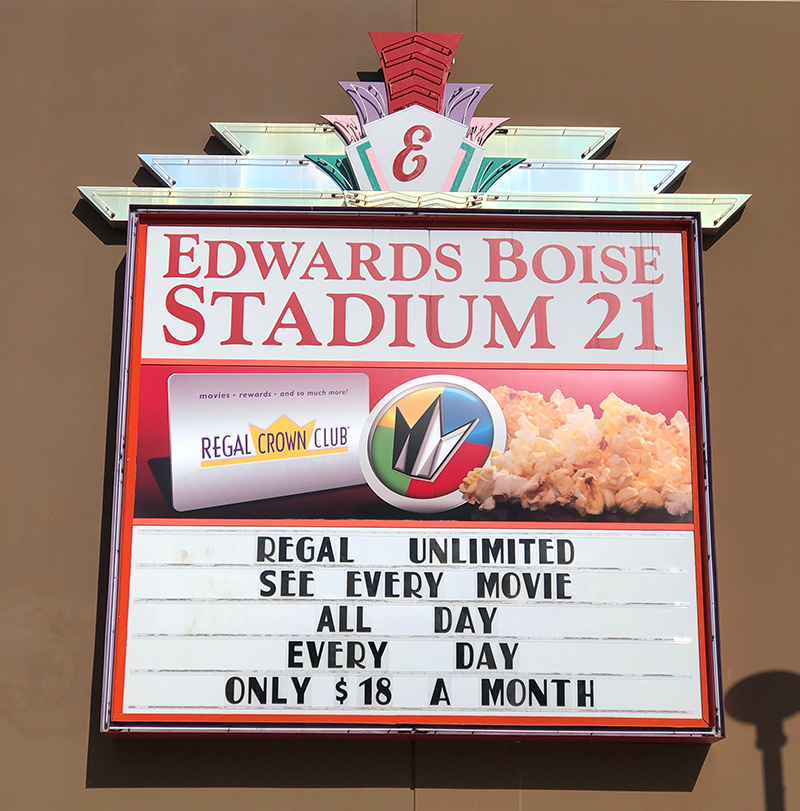 Edwards Stadium Movies Signage Outside
