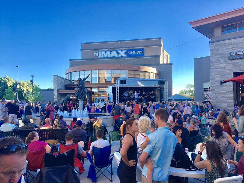IMAX entrance during summer concert series