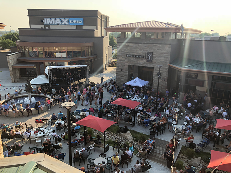 IMAX theatre and Boise Spectrum courtyard